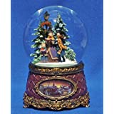 Musical Snow Globe Carolers Home Christmas Glitterdome Collection Roman 36302C