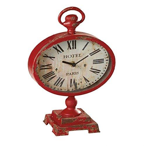 Midwest-CBK Distressed Red Desk Clock [並行輸入品]