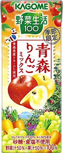 野菜生活100 青森りんごミックス 紙パック 195ml ×24本