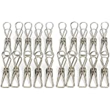Qty 60 x Eco-Friendly Stainless Steel Clothes pegs