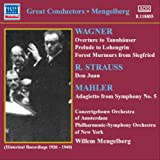 ワーグナー:序曲, 前奏曲集/R. シュトラウス:交響詩「ドン・ファン」/他(メンゲルベルク)(1926-1940) 画像