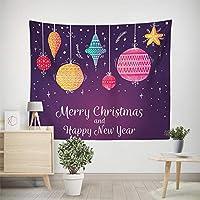 タペストリー インテリア 北欧エルクホーム絵画の写真の背景の布はクリスマス鹿がタペストリーを印刷絵画 部屋 窓 個性 多機能 (色 : A4, サイズ : 150*130cm)