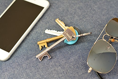 Zenify Key Chain Ring Bottle Opener for Craft Beer, Kombucha, Soda, Soft Drink - Birthday Gift Barware Tool BBQ for Trendy Dad Father Son Brother (1)