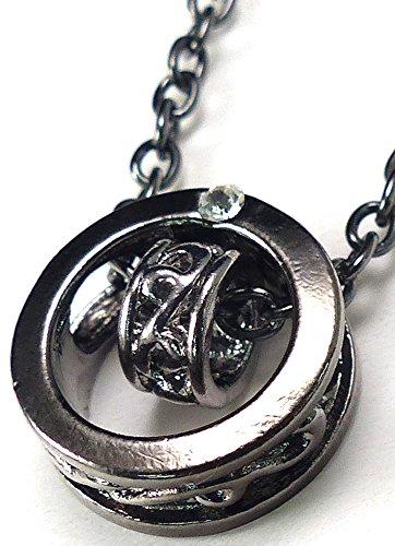 [해외]목걸이 남성 심플 링 실버 cr 골드 cr zzzn2 - m/Necklace Men`s Simple Rings Silver cr gold cr zzzn 2 - m