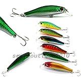 アウトドア6個セット6色ミノー餌ハード釣り餌釣りルアー8.5cm-8.9g新しい
