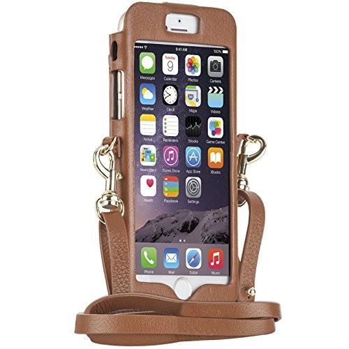 【日本正規品】 REBECCA MINKOFF × Case-Mate Crossbody Sleeve with Dogclip & Strap, Almond, iPhone6s / iPhone6 レベッカミンコフ アーモンド, クロスボディ スリーブ ウィズ ドッグクリップ ストラップ CM033530