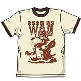 ヤッターワントリムTシャツ ナチュラル×ブラウン サイズ:L