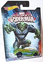 hotwheels marvel ultimate spiderman battle spec green goblin car 1.64 scale model by Hot Wheels