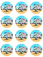 Sheriff Callie Edible Cupcake Toppers - Set of 12 by Cake Topper Designs