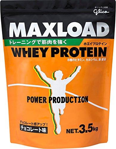 グリコ パワープロダクション マックスロード ホエイプロテイン チョコレートアジ 3.5kg×3コ