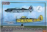 コラモデルス 1/72 イギリス空軍 フォッケウルフFw190S-8 & ゴータ Go145 鹵獲機 プラモデル KORPK72099