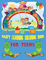 Happy Learning Alphabet Coloring Book for teens: Best Alphabet Coloring & Activity Book for Teens,8.5x11 inch,Soft Matte Cover