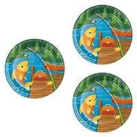 """24パックキャンプ/釣りParty Dessert Plates–7"""" Camp Out誕生日パーティーSupplies"""