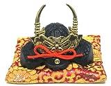 日本製 和風インテリア 兜 端午の節句 五月人形 兜飾り 出世兜 豆兜(座布団付き) 名将 武田信玄