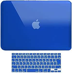 MS factory MacBook Pro 15 ケース カバー + 日本語 キーボードカバー マックブックプロ 15インチ ハードケース Pro15 Mid 2009 ~ Mid 2012 A1286 ディスクスロット搭載 全11色 クリスタル ブルー 青 RMC series RMC-SETP15XBL