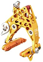 KCNC 自転車 軽量 ブレーキ CB4 キャリパーブレーキ AL6061 ペア パッドツキ ゴールド 201269