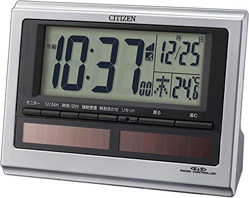 シチズン ソーラーデジタル 電波目覚し時計 パルデジットソーラーR125