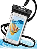 Desertwest 防水ケース スマホ用 携帯防水ケース IPX8認定 iPhone X iPhone8 iPhone7 Android 6インチ以下全機種対応海水浴 潜水 お風呂 温泉 水泳 砂浜 水遊び 水中撮影 タッチ可能 ネックストラップ付属
