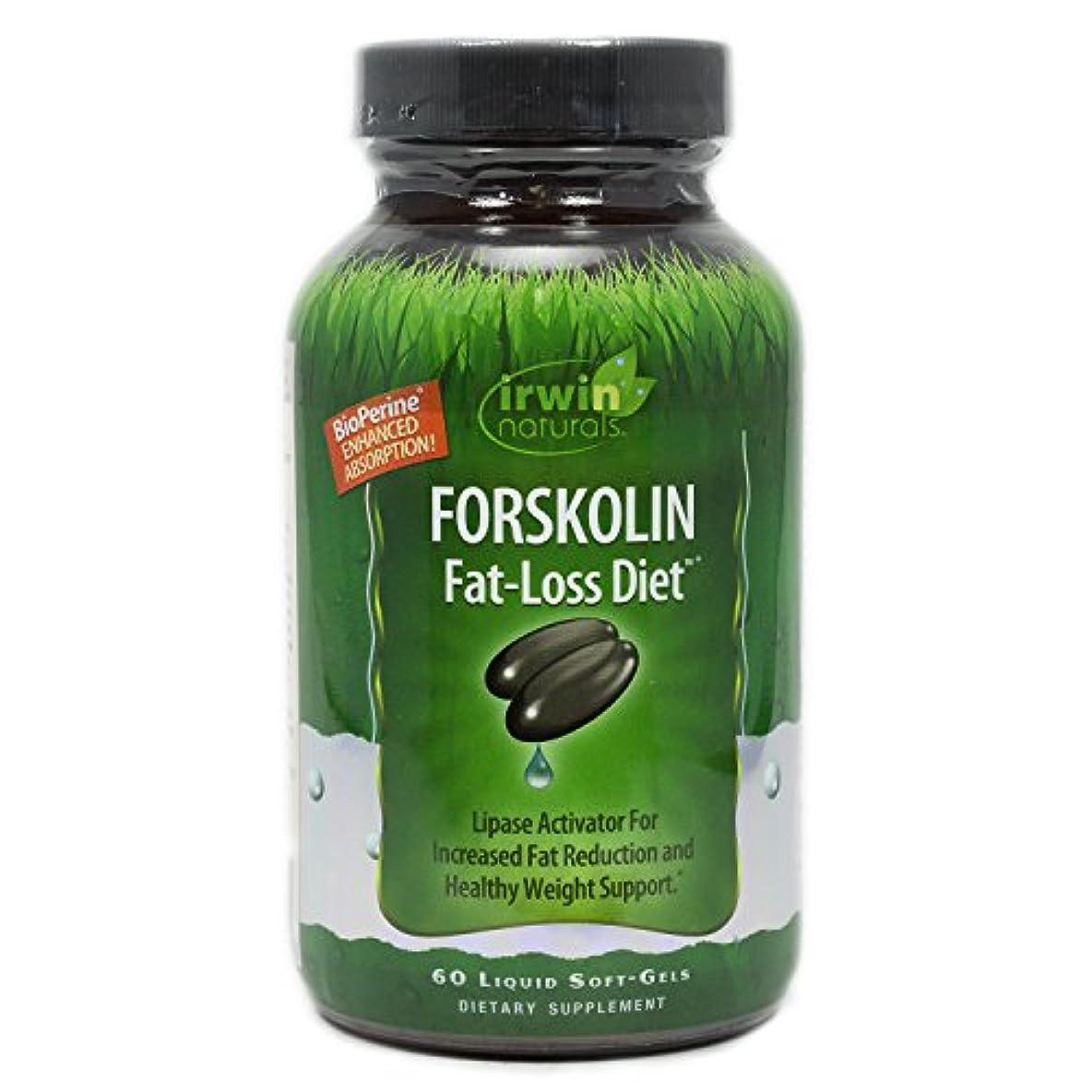 他の日ソビエト知らせるIrwin Naturals Forskolin(フォルスコリン) Fat-Loss Diet 60 sgels