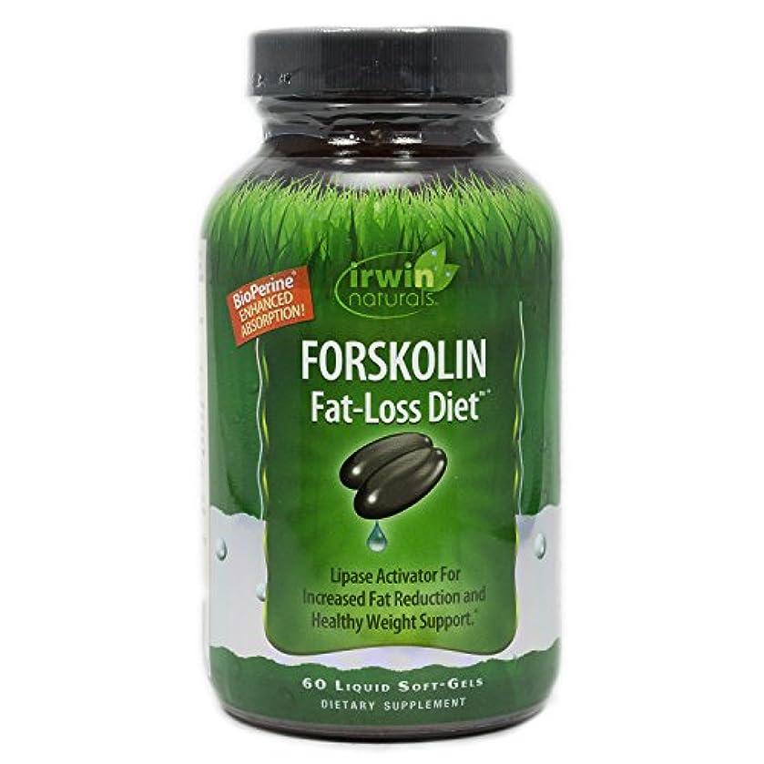 コンクリート序文変わるIrwin Naturals Forskolin(フォルスコリン) Fat-Loss Diet 60 sgels