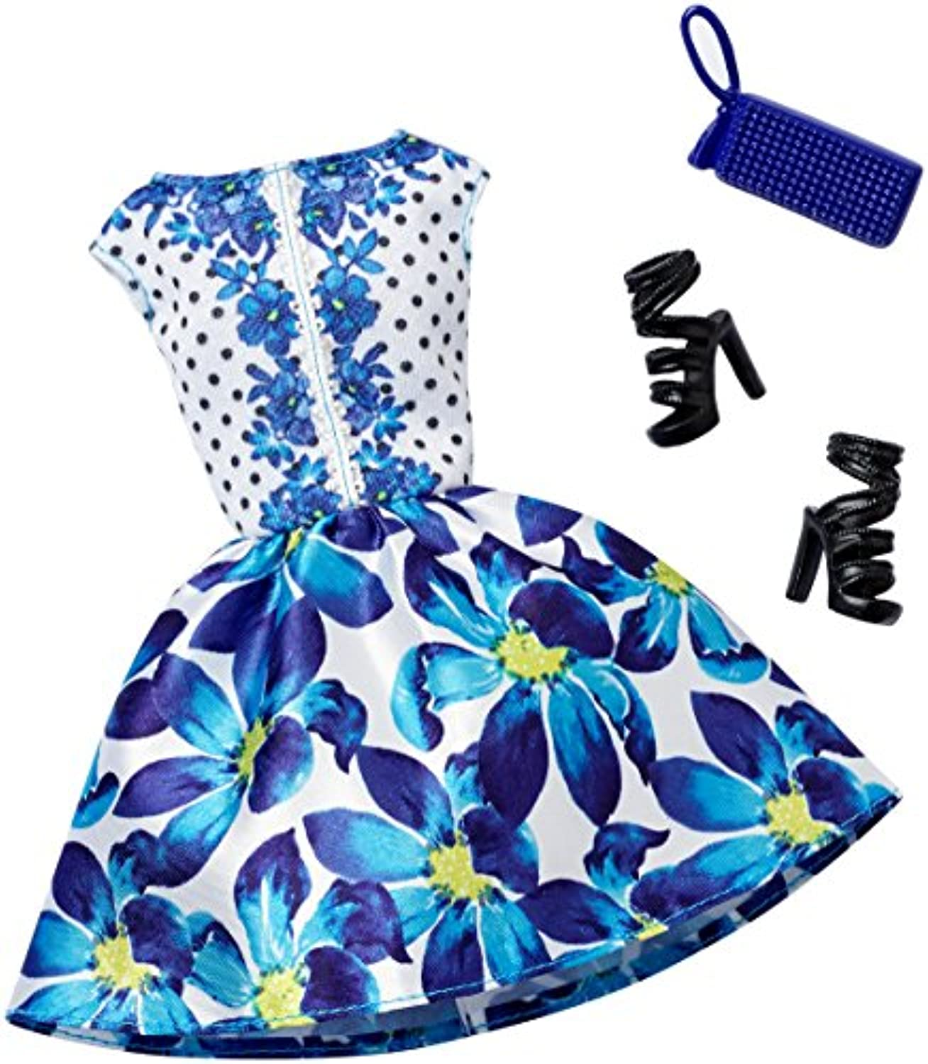 [バービー]Barbie Complete Look Fashion Pack, Blue Floral Dress DHC58 [並行輸入品]