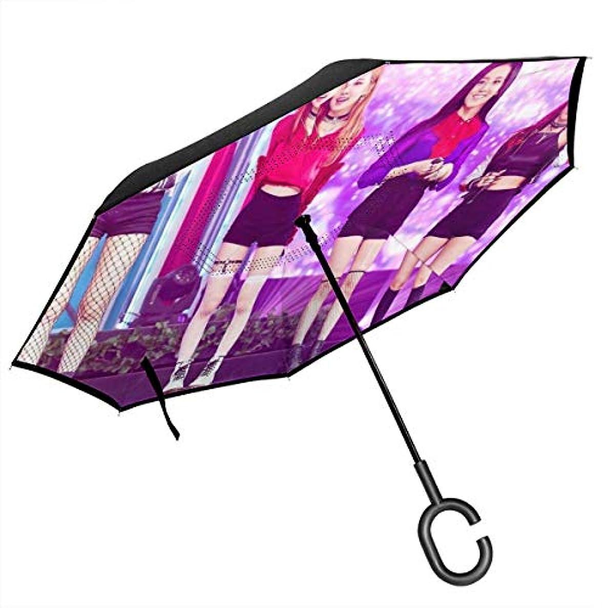 抜け目がないドライ徒歩でBlackpink 折り返日傘すパラソル紫外線対策雨傘 耐久性 晴天または雨天両用堅牢防風 手分離C形 スポーツ ビジネス 個性的な人気UPF 50+傘は男性と女性の子供に似合います