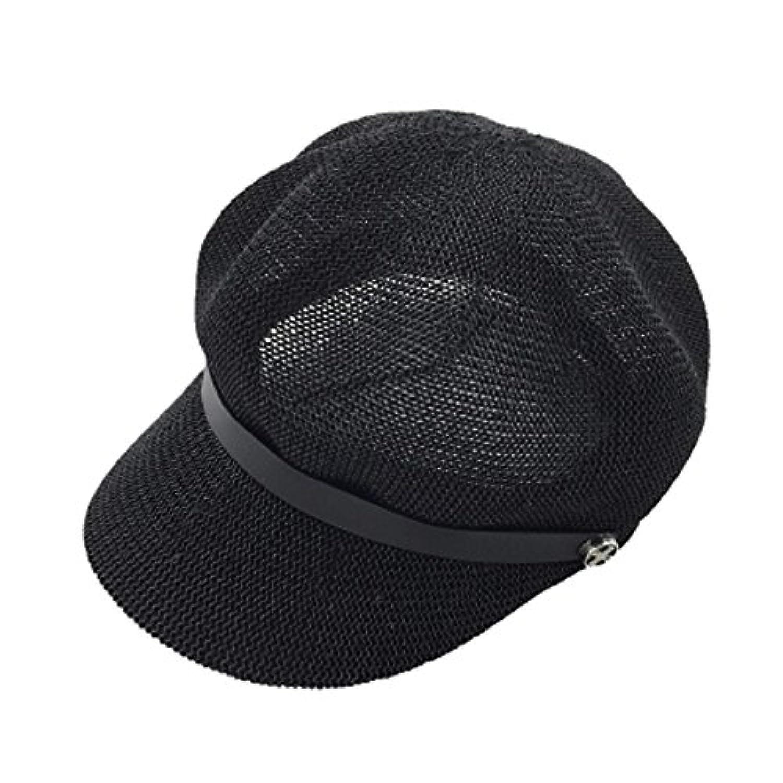 レディース 夏 ベレー帽 日焼け防止 おしゃれ 4色 人気
