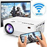 [Wireless Projector] POYANK 3800Lux LED Wireless Mini Projector, WiFi Projector Compatible with Smartphones, Video Games, TV Box Full HD 1080p Supported (WiFi Model)