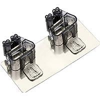モップフック ほうき モップ ホルダーモップ ホルダー モップフック 壁掛け式 収納ホルダー 清掃用具収納 傘 タオル(ブラック)