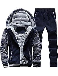 GoldenSelect スウェット ズボン ジャージ パーカー メンズ パジャマ 冬服 裏起毛 上下 セット ジップアップ セットスリ 防寒