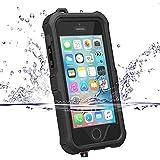 (ゼットウィイ-)ZVE iphone5s/SE用ケース 防水 耐衝撃 防塵 液晶保護フィルム付き (iphone5s/SE ブラック)