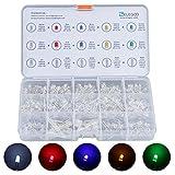 Elegoo 3mmと5mm 透明LEDセット 5色LED、UV、RGB CC/CA、高/低速点滅 (350)