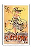 クレメント・サイクル - パリ - ダンロップタイヤ - ビンテージな広告ポスター によって作成された ジーン・ド・ペリオログ c.1898 - アートポスター - 31cm x 46cm