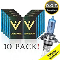 Voltage Automotive 9003 HB2 H4 Headlight Bulb Polarize Super White Bright Replacement For Car Motorcycle (10 Pack) - Professional Upgrade Head Light Bulb [並行輸入品]