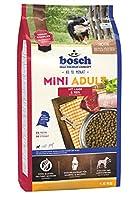 ボッシュ ミニアダルト ラム&ライス 10ヶ月以上 通常活動レベルの小型成犬用総合栄養食 全犬種用 小粒 ハイプレミアム ドッグフード 1kg