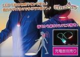 LED2WAYナイトウォーキングネックライト 夜lumiere~ヨルミエール~ 充電用ACアダプター別売版 【ハンズフリー型懐中電灯、充電式】 全5色 (緑)