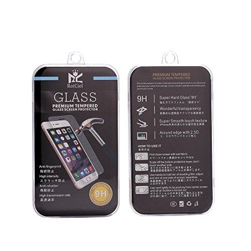 RoiCiel 液晶保護強化ガラスフィルム 硬度9H 超薄0.3mm 2.5D ラウンドエッジ加工 (iPhone6Plus/iPhone6SPlus)