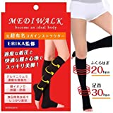 MKY Company メディウォーク Mediwalk 加圧 着圧 ソックス 靴下 レディーススポーツソックス (ブラック, L-XL)