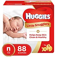 Huggies Little Snugglers Baby Diapers, Size Newborn, 88 Count (Packaging May Vary) by Huggies
