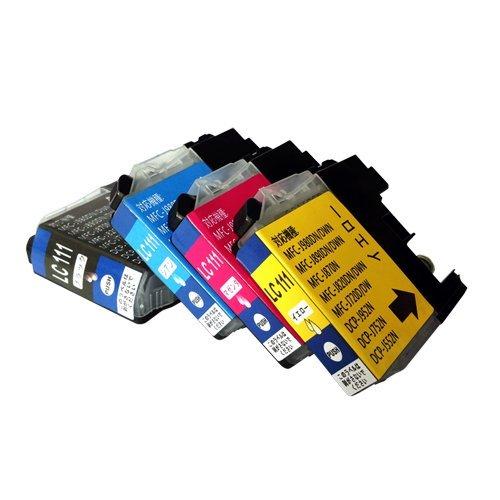 LC111 4色(BK/C/M/Y) 4色 マルチパック BROTHER ブラザー 汎用・互換 インクカートリッジ 残量表示可能 ICチップ付き
