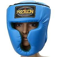 ボクシングトレーニングヘッドギアヘッドガードKick Sparring Gear面保護ブルー