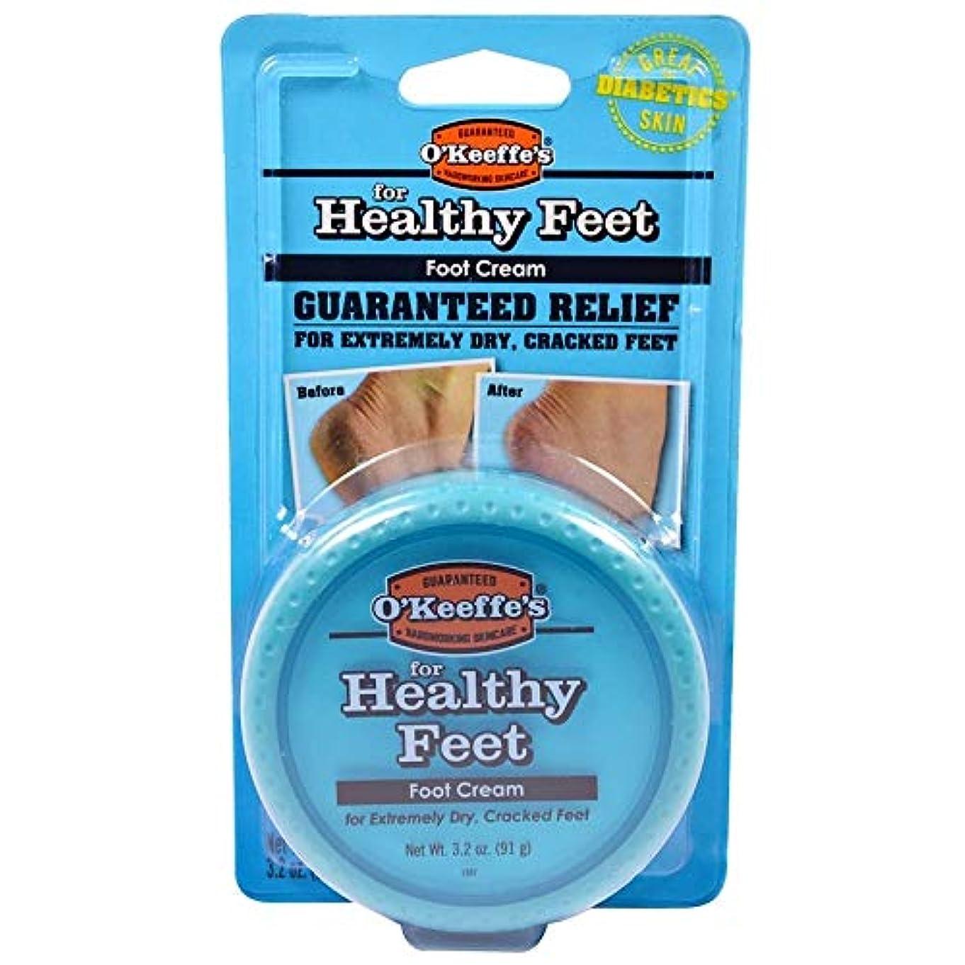 菊自明ベックス海外直送品O'Keeffe's For Healthy Feet Daily Foot Cream, 3.2 oz (91 g)X 2パック[並行輸入品] by O'Keeffe's