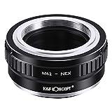 K&F Concept M42レンズ- Sony NEX Eカメラ装着用レンズアダプターリング レンズマウントアダプター マウント変換アダプター M42-NEX Sony Alpha NEX-7 NEX-6 NEX-5N NEX-5 NEX-C3 NEX-3専用