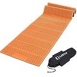 LICLI レジャーマット 極厚 20mm ひとり用 ~ 4人対応 折りたたみ コンパクト 防水 収納袋付き 4色 (オレンジ)