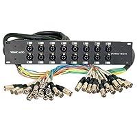 Seismic Audio SARMSS-16x515 Rack Mount 16 Channel XLR TRS Combo Splitter Snake Cable - 5' & 15' XLR trunks [並行輸入品]