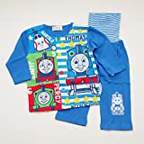 きかんしゃトーマス 前ボタン 腹巻付き長袖パジャマ 80-95cm (T7107) (95cm)