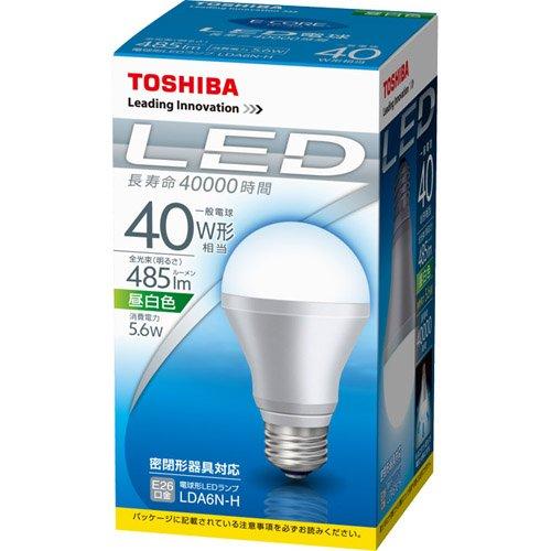 LED電球5.6W40W形昼白色 LDA6N‐H