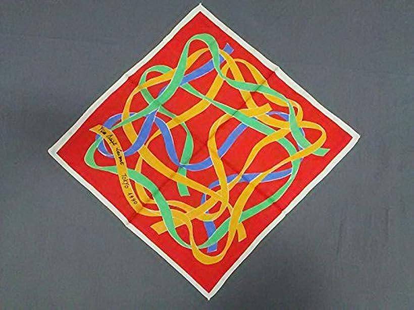 傾向がある隣接する性差別(イヴサンローラン) Yves Saint Laurent スカーフ レッド×マルチ 【中古】