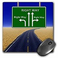 3drose印刷のHighway Sign Shows方法は各方向右–マウスパッド、8× 8インチ( MP _ 204317_ 1)