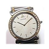 SEIKO(セイコー) クレドール リネアクルバLM メンズ腕時計 K18×SS ダイヤベゼル オニキスリューズ クオーツ 5A74-0190 [中古]